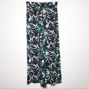 GAP Palazzo Pants Small Floral Wise Straight Leg
